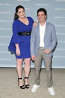 NEW YORK, NY - MAY 14: Lauren Ash and Ben Feldman at the 2018 NBCUniversal Upfront at Rockefeller Center in New York City on May 14, 2018.  <br /> CAP/MPI/PAL<br /> &copy;PAL/MPI/Capital Pictures