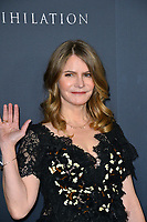 Jennifer Jason Leigh at the premiere for &quot;Annihilation&quot; at the Regency Village Theatre, Los Angeles, USA 13 Feb. 2018<br /> Picture: Paul Smith/Featureflash/SilverHub 0208 004 5359 sales@silverhubmedia.com