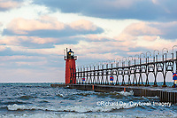 64795-02502 South Haven Lighthouse early morning South Haven,  MI