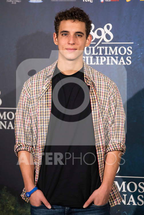 "Miguel Herran attends to the presentation of the spanish film "" 1898. Los ultimos de Filipinas"" at Naval Museum in Madrid, Spain. November 28, 2016. (ALTERPHOTOS/BorjaB.Hojas)"
