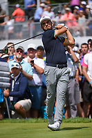 Tiger Woods (USA) after sinking his putt on 8 during Rd4 of the 2019 BMW Championship, Medinah Golf Club, Chicago, Illinois, USA. 8/18/2019.<br /> Picture Ken Murray / Golffile.ie<br /> <br /> All photo usage must carry mandatory copyright credit (© Golffile | Ken Murray)