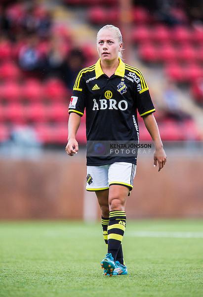 Solna 2014-08-16 Fotboll Damallsvenskan AIK - Kopparbergs/G&ouml;teborg FC :  <br /> AIKAIK:s Sarah Storck <br /> (Foto: Kenta J&ouml;nsson) Nyckelord:  AIK Gnaget Kopparbergs G&ouml;teborg Kopparbergs/G&ouml;teborg portr&auml;tt portrait
