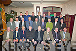 REUNION: Members of the 1961 Kerry hurling team,representatives of deceased members and representatives of the backroom team,pictured at the golden jubilee celebrations of the 1961 All-Ireland junior hurling  victory in Kate Browne's Bar & Restaurant, Ardfert, on Friday night. Front row l-r: :Pat O'Sullivan,Niall Sheehy, (organising reponsibilty of hurling), Leo Stack (Vice-Chairman of the 1961 Kerry GAA Board with responsibility for hurling), Gerald McKenna (President of Kerry GAA Board and Master of Cermonies), Teddy Hennessy (chairman of organising committee),John Barry (secretary of organising committee) Dan O'Sullivan and Jim Hogan (organising committee). Middle row l-r: Billy McCarthy, Conor O'Sullivan, Sean Hussey, Jim Kirby, Declan Lovett, Nicholas Quille, Thomas Randles, Tony Conway and Mike Joe Quinlan.Back row l-r: Sean Lawlor, Toddy Hennessy, Johnny Culloty (organising committee), Ger Power, Sean Flaherty, Eamon O'Sullivan, David Lucid and Jerome O'Donovan. Missing are team members Richie McElligott, (organising committee), who was hospitalised that day,and team member Ken Dermody,who was unable to attend because of family bereavement. The event was co-sponsered by the Kerry GAA Board,Kerry Group and Lee -Strand........