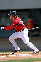 First baseman Lars Anderson #26 of the Pawtucket Red Sox during a game versus the Syracuse Chiefs on April 21, 2011 at McCoy Stadium in Pawtucket, Rhode Island. Photo by Ken Babbitt /Four Seam Images