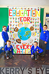 Third class students from CBS Scoil Mhuire na mBráithre, Tralee have been chosen as Regional Finalists in the Our World Irish Aid Awards 2013. Pictured were: Caoimhe Casey, David Callaghan, Amelia Grabcak and Leonardo Popavsky.