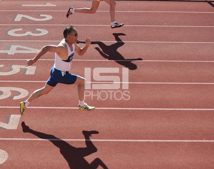 Start of the 100 meter dash.