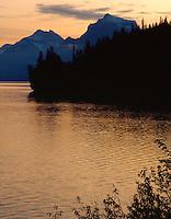 Dawn on Lake McDonald,GLACIER NATIONAL PARK, Montana