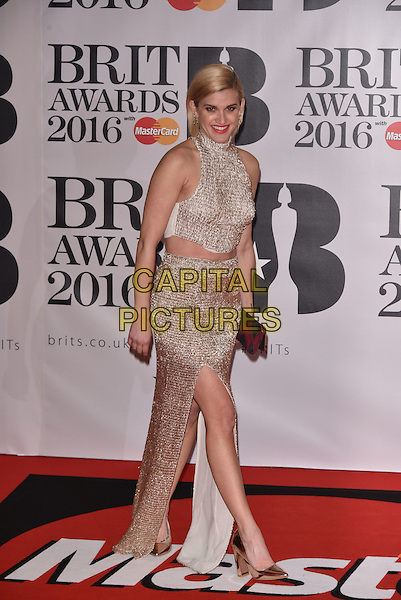 LONDON, ENGLAND - FEBRUARY 24: Ashley Roberts attends the BRIT Awards 2016 at The O2 Arena on February 24, 2016 in London, England<br /> CAP/PL<br /> &copy;Phil Loftus/Capital Pictures