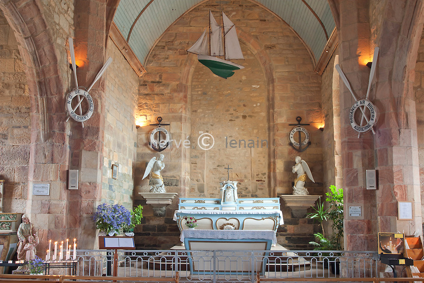 France, Finistère (29), Camaret, la chapelle Notre-Dame de Rocamadour // France, Finistere, Camaret, chapel Notre-Dame de Rocamadour