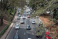 SÃO PAULO-SP,15,09,2014-TRÂNSITO 23 DE MAIO-O Motorista não encontra lentidão na Avenida 23 de Maio ambos sentidos.<br /> Região central da cidade de São Paulo,no começo da tarde dessa Segunda-Feira,15.(Foto:Kevin David/Brazil Photo Press)