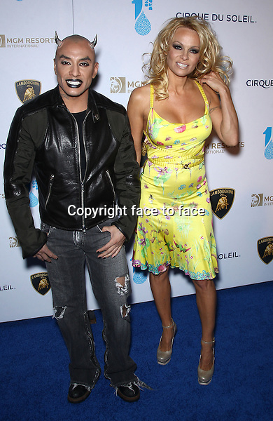 22 March 2013 - Las Vegas, NV - Jesus Villa, Pamela Anderson. One Night for One Drop Charity Event at Hyde nightclub inside The Bellagio Resort and Casino. ..Credit: MediaPunch/face to face..- Germany, Austria, Switzerland, Eastern Europe, Australia, UK, USA, Taiwan, Singapore, China, Malaysia and Thailand rights only -