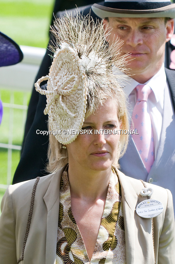 "SOHIE, COUNTESS OF WESSEX.Attends Ladies Day of Royal Ascot 2010_17/06/2010..Mandatory Photo Credit: ©Dias/Newspix International..**ALL FEES PAYABLE TO: ""NEWSPIX INTERNATIONAL""**..PHOTO CREDIT MANDATORY!!: NEWSPIX INTERNATIONAL(Failure to credit will incur a surcharge of 100% of reproduction fees)..IMMEDIATE CONFIRMATION OF USAGE REQUIRED:.Newspix International, 31 Chinnery Hill, Bishop's Stortford, ENGLAND CM23 3PS.Tel:+441279 324672  ; Fax: +441279656877.Mobile:  0777568 1153.e-mail: info@newspixinternational.co.uk"