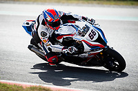 8th July 2020; Circuit de Barcelona Catalunya, Barcelona, Spain; FIM Superbike World Championship tests;  Day One; Tom Sykes of the MW Motorrad WORLDSBK Team in action with the BMW S1000 RR