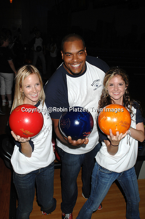 Brittany Underwood, Sean Ringgold and Justis Bolding..at The Daytime Stars and Stripes Bowling Event benefitting The American Cancer Society on October 7, 2007 at ..Chelsea Piers Lanes. ..photo by Robin Platzer, Twin Images......212-935-0770