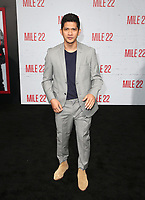 LOS ANGELES, CA - AUGUST 9: Iko Uwais at the Mile 22 premiere at The Regency Village Theatre in Los Angeles, California on August 9, 2018. <br /> CAP/MPIFS<br /> &copy;MPIFS/Capital Pictures