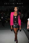 2012 Miss USA Nana Meriwether Front Row at Zang Toi Spring 2014 Fashion Show Held During Mercedes Benz Fashion Week NY