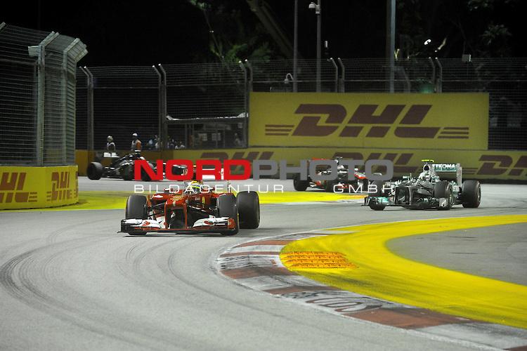 19.-22.09.2013, Marina-Bay-Street-Circuit, Singapur, SIN, F1, Grosser Preis von Singapur, Singapur, DHL Branding - Felipe Massa (BRA), Scuderia Ferrari <br />  Foto &copy; nph / Mathis