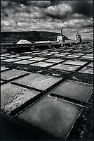 Europe, Espagne, Iles Canaries, Lanzarote:   Salines de Janubio // Europe, Spain, Canary Islands, Lanzarote, Janubio Salt evaporation pond