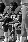 San Francisco 49ers training camp August 3, 1982 at Sierra College, Rocklin, California.  San Francisco 49ers defensive end Dwaine Board (76).
