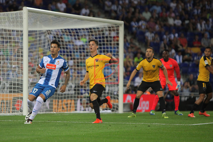 League Santander 2016/2017. Game: 2.<br /> RCD Espanyol vs Malaga CF: 2-2.<br /> Hernan Perez.