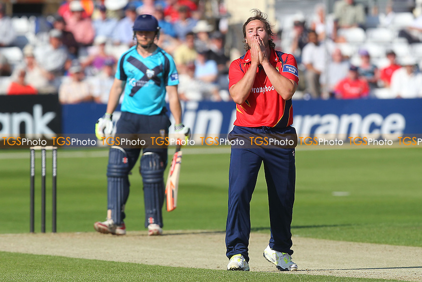 Graham Napier of Essex reacts as he goes close to a wicket - Essex Eagles vs Scotland - Yorkshire Bank YB40 Cricket at the Essex County Ground, Chelmsford - 02/06/13 - MANDATORY CREDIT: Gavin Ellis/TGSPHOTO - Self billing applies where appropriate - 0845 094 6026 - contact@tgsphoto.co.uk - NO UNPAID USE