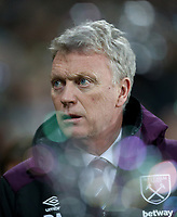 West Ham United manager David Moyes<br /> <br /> Photographer Rob Newell/CameraSport<br /> <br /> The Premier League - West Ham United v West Bromwich Albion - Tuesday 2nd January 2018 - London Stadium - London<br /> <br /> World Copyright &copy; 2018 CameraSport. All rights reserved. 43 Linden Ave. Countesthorpe. Leicester. England. LE8 5PG - Tel: +44 (0) 116 277 4147 - admin@camerasport.com - www.camerasport.com