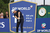 Matt Wallace (ENG) on the 14th tee during the 1st round of the DP World Tour Championship, Jumeirah Golf Estates, Dubai, United Arab Emirates. 21/11/2019<br /> Picture: Golffile | Fran Caffrey<br /> <br /> <br /> All photo usage must carry mandatory copyright credit (© Golffile | Fran Caffrey)