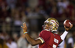FSU quarterback Jameis Winston on a night game that saw the #3 ranked Florida State Seminoles defeat the #7 ranked Miami Hurricanes 41-14 in Tallahassee, FL November 3, 2013.