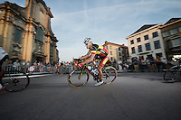 2015 Belgian Champion Kenneth Vanbilsen (BEL/Cofidis) flying his tricolore<br /> <br /> Post-Tour Criterium Mechelen 2015