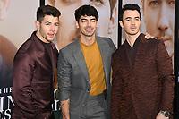 "02 June 2019 - Westwood Village, California - Nick Jonas, Joe Jonas, Kevin Jonas. Amazon Prime Video ""Chasing Happiness"" Los Angeles Premiere held at the Regency Village Bruin Theatre. <br /> CAP/ADM/BB<br /> ©BB/ADM/Capital Pictures"