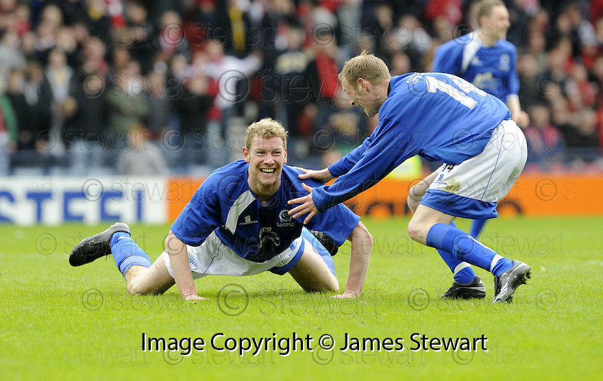 12/04/2008    Copyright Pic: James Stewart.File Name : sct_jspa14_qots_v_aberdeen.SEAN O'CONNOR IS GONGRATULATED BY JOHN STEWART AFTER HE SCORES THE THIRD FOR QUEEN OF THE SOUTH.James Stewart Photo Agency 19 Carronlea Drive, Falkirk. FK2 8DN      Vat Reg No. 607 6932 25.Studio      : +44 (0)1324 611191 .Mobile      : +44 (0)7721 416997.E-mail  :  jim@jspa.co.uk.If you require further information then contact Jim Stewart on any of the numbers above........