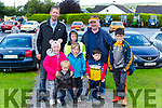 Jim Megan, Jimmy, Dylan and Mark Herlihy and Jack, Shane and Aidan O'Connell at the Paudie Fitzmaurice memorial Vintage run in Cordal on Sunday