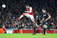 Francis Coquelin of Arsenal has a shot on goal during the Carabao Cup Quarter Final match between Arsenal and West Ham United at Emirates Stadium on December 19th 2017 in London, England.  <br /> Premier League 2017/2018 <br /> Foto Panoramic / Insidefoto