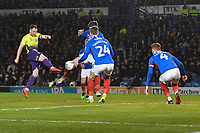 during Portsmouth vs Exeter City, Leasing.com Trophy Football at Fratton Park on 18th February 2020