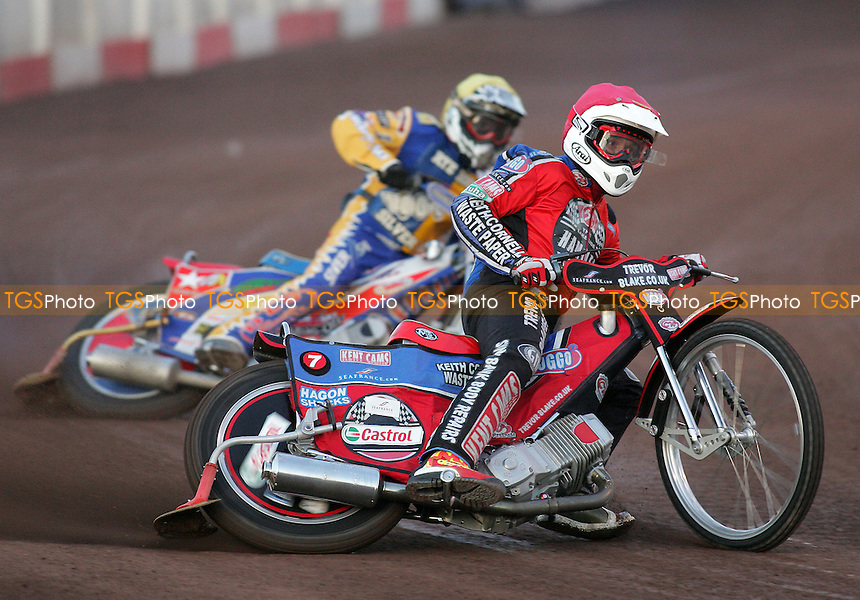 Heat 4 - Hurry (red), Roynon - Lakeside Hammers vs Rye House Rockets - Inter-League Challenge at Arena Essex, Purfleet 10/08/07 - MANDATORY CREDIT: Gavin Ellis/TGSPHOTO - SELF-BILLING APPLIES WHERE APPROPRIATE. NO UNPAID USE. TEL: 0845 094 6026..