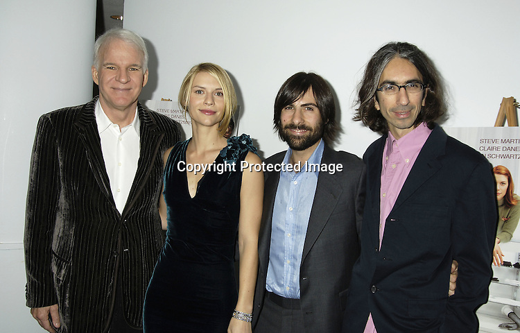 "Steve Martin, Claire Danes, Jason Schwartzman and director Anand Tucker ..at a special  screening of ""Shopgirl"" on October 17, 2005 hosted by Tina Brown and Harry Evans at the New Beekman  Theatre. ..Photo by Robin Platzer, Twin Images"