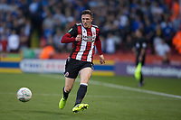 John Lundstram of Sheffield United during the Carabao Cup match between Sheffield United and Leicester City at Bramall Lane, Sheffield, England on 22 August 2017. Photo by James Williamson / PRiME Media Images.