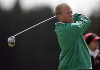 20 May, 2010:  Loyola Universities Jason Burton drives the ball off the tee on hole one of the NCAA Division I Regionals tournament Thursday at Gold Mountain Golf Course in Bremerton, WA.