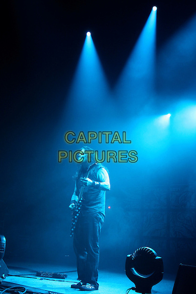 MACHINE HEAD - Phil Demmel .Perform live in concert at the Brixton Academy, London, England, UK, .18th February 2010..gig on stage performing concert music full length guitar playing   black sleeveless top t-shirt trousers .CAP/MAR.© Martin Harris/Capital Pictures.