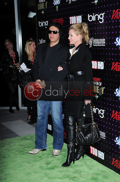 Gene Simmons and Shannon Tweed<br /> at Variety's 1st Annual Power Of Comedy Event, Club Nokia, Los Angeles, CA. 12-04-10<br /> David Edwards/DailyCeleb.com 818-249-4998