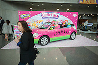Cutie Cars display at the 114th North American International Toy Fair in the Jacob Javits Convention center in New York on Sunday, February 19, 2017.  The four day trade show with over 1000 exhibitors connects buyers and sellers and draws tens of thousands of attendees.  The toy industry generates over $26 billion in the U.S. alone and Toy Fair is the largest toy trade show in the Western Hemisphere. (© Richard B. Levine)