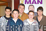 Adam Sheppard, Tom, Liam, Niamh Kearney and Bridget Quinn having a laugh at the Brendan Grace concert in the INEC on Friday night