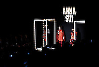 New York, United States. 13th February 2013 -- Anna Sui Autumn/Winter 2013 collection during New York Fashion Week. by VIEWpress.Photo by Kena Betancur