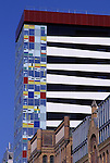 Europe, DEU, Germany, Northrhine Westphalia, Rhineland, Lower Rhine, Dusseldorf, Media Port, Coloriumhouse, Fassade....[ For each utilisation of my images my General Terms and Conditions are mandatory. Usage only against use message and proof. Download of my General Terms and Conditions under http://www.image-box.com or ask for sending. A clearance before usage is necessary...Material is subject to royalties. Each utilisation of my images is subject to a fee in accordance to the present valid MFM-List...Contact | archive@image-box.com | www.image-box.com ]