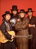 SLADE - L-R: Dave Hill, Jim Lea, Noddy Holder, Don Powell - 1991.  Photo credit: Ray Palmer Archive/IconicPix