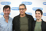Jerry O'Connell, Jeff Goldblum & Justin Long.attending the 'SEMINAR' Come Meet The New Broadway Cast at the Roundabout Reharsal Studios in New York on 3/28/2012 © Walter McBride/WM Photography