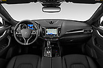 Stock photo of straight dashboard view of a 2020 Maserati Levante S 5 Door SUV