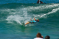 PIPELINE, Oahu/Hawaii (Wednesday, December 15, 2010) - Dusty Payne (HAW).   Day 2 of the Billabong Pipe Masters in Memory of Andy Irons, the third and final stop on the Vans Triple Crown of Surfing (an ASP Specialty Series) got underway today, with Rounds 3 to 5 completed in challenging five foot (2 metre) waves at theBackdoor Pipeline on Oahu's North Shore..Kelly Slater (USA) scored the first perfect 10 point wave of the event, Dusty Payne (HAW) advanced past Round 3 and qualified for next years Top 32 and Stephanie Gilmore won her third Triple Crown of Surfing when she won the Duel for the Jewel from Tyler Wright (AUS) 2nd, Coco Ho (HAW) in 3rd and Alana Blanchard (HAW) in 4th.. .The final stop on the 2010 ASP World Tour, the Billabong Pipe Masters in Memory of Andy Irons utilised the ASP's Dual Heat Format again today, overlapping the man-on-man matches to take advantage of the swell on offer. With a smattering of Pipeline specialists lining the field, the world's best surfers campaigned against one another and the elements to ensure their position amongst the world's best surfers for 2011...Photo: joliphotos.com