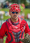 21 March 2015: Washington catcher Sandy Leon in action during a Spring Training Split Squad game against the Atlanta Braves at Champion Stadium at the ESPN Wide World of Sports Complex in Kissimmee, Florida. The Braves defeated the Nationals 5-2 in Grapefruit League play. Mandatory Credit: Ed Wolfstein Photo *** RAW (NEF) Image File Available ***