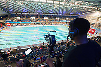 Picture by Allan McKenzie/SWpix.com - 16/12/2017 - Swimming - Swim England Nationals - Swim England Winter Championships - Ponds Forge International Sports Centre, Sheffield, England - Camera, tv, filming.